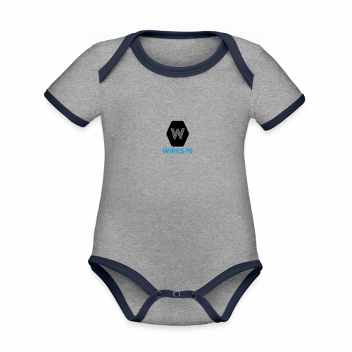 Warrington Wolves Wires 76 - Organic Baby Contrasting Bodysuit