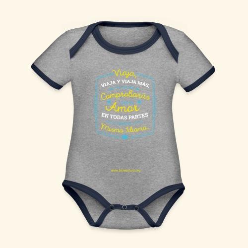 VIAJA - Body contraste para bebé de tejido orgánico