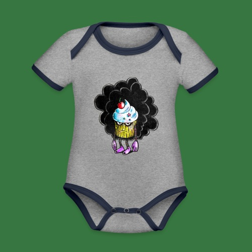 Don´t call me cupcake - Ekologisk kontrastfärgad kortärmad babybody