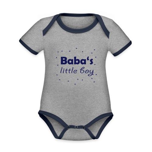 Baba's litte boy Babybody - Baby Bio-Kurzarm-Kontrastbody