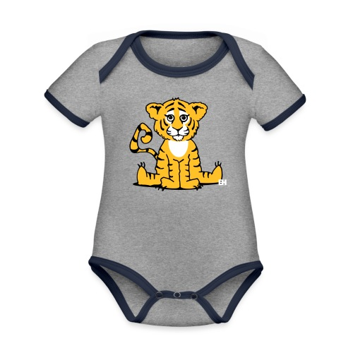 Tiger cub - Organic Baby Contrasting Bodysuit