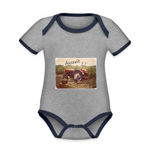 Auszeit - Baby Bio-Kurzarm-Kontrastbody