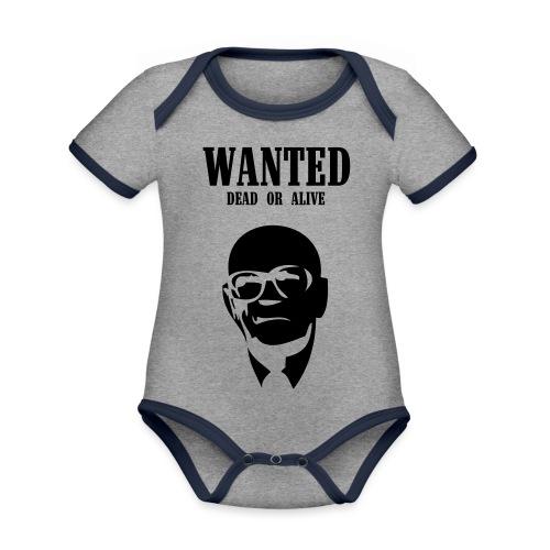 Kekkonen Wanted - Dead or Alive - Vauvan kontrastivärinen, lyhythihainen luomu-body
