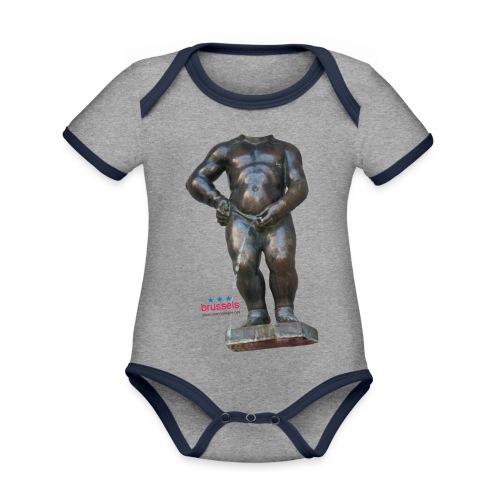 mannekenpis Real Big ♀♂ | 撒尿小童 - Body Bébé bio contrasté manches courtes