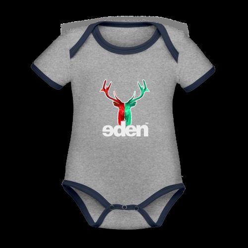 geweihbär EDEN - Baby Bio-Kurzarm-Kontrastbody