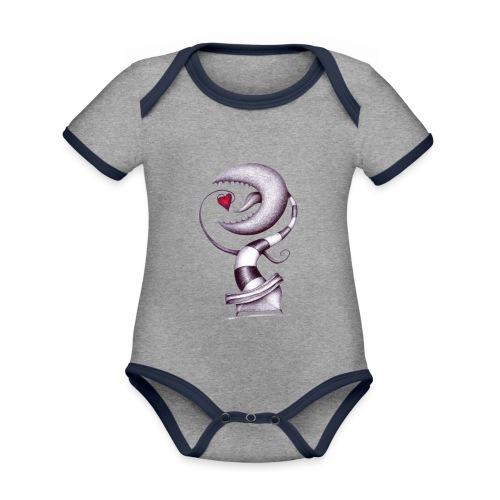 Carnivora Pianta Mangia Amore - Body da neonato a manica corta, ecologico e in contrasto cromatico