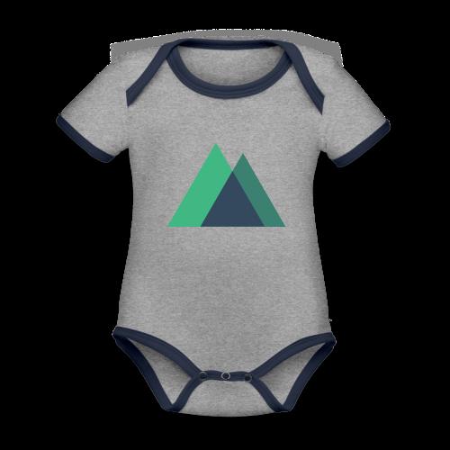 Mountain Logo - Organic Baby Contrasting Bodysuit