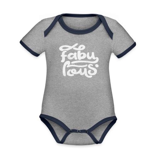 Fabulous - Ekologisk kontrastfärgad kortärmad babybody