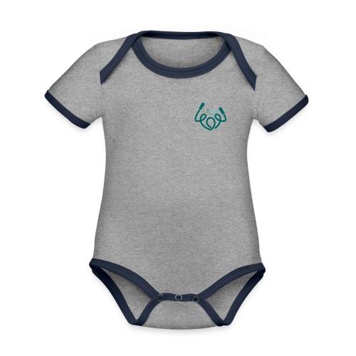 AFAfitness - Body da neonato a manica corta, ecologico e in contrasto cromatico