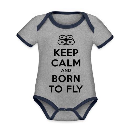 KEEP CALM - Body da neonato a manica corta, ecologico e in contrasto cromatico