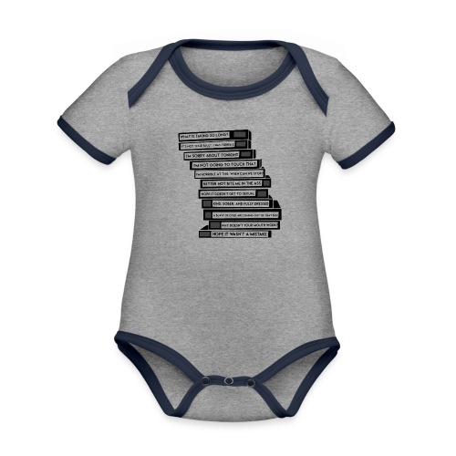 B 99 Sex Tapes - Organic Baby Contrasting Bodysuit