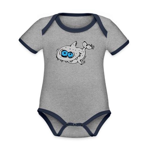 Sharky - Baby Bio-Kurzarm-Kontrastbody