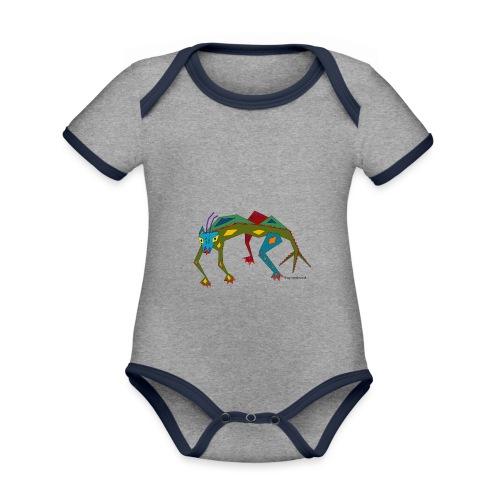 Salmi der zackige Drachen - Baby Bio-Kurzarm-Kontrastbody