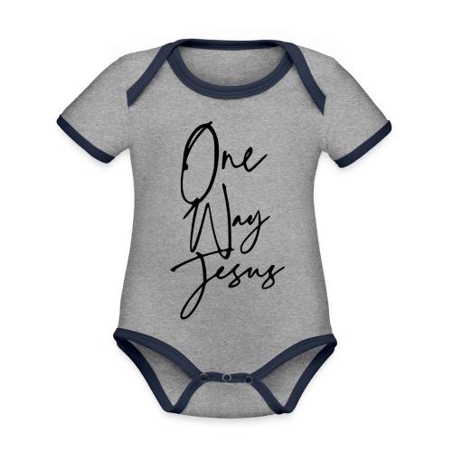 one way jesus - Body contraste para bebé de tejido orgánico