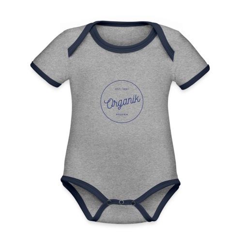 Organic - Body da neonato a manica corta, ecologico e in contrasto cromatico