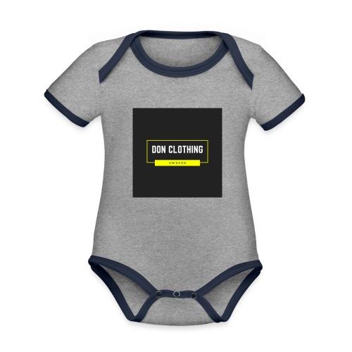 Don kläder - Ekologisk kontrastfärgad kortärmad babybody
