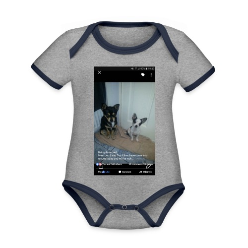 Dogs - Organic Baby Contrasting Bodysuit