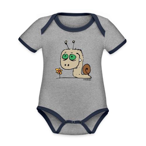 Schnecky - Baby Bio-Kurzarm-Kontrastbody
