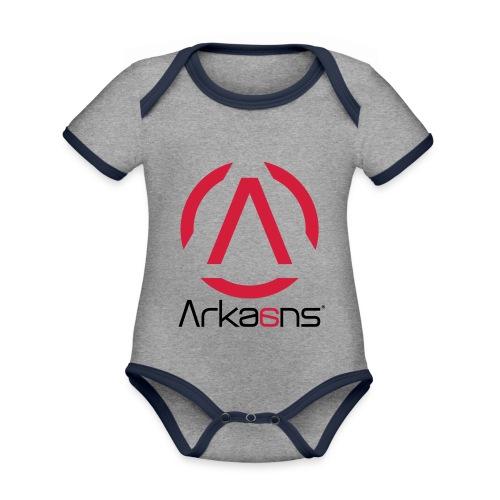 Arkaans Global - Body Bébé bio contrasté manches courtes