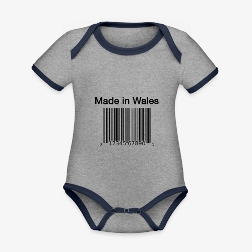 Made in Wales - Organic Baby Contrasting Bodysuit