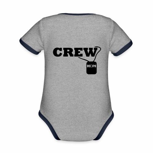 KON - Crew - Baby Bio-Kurzarm-Kontrastbody