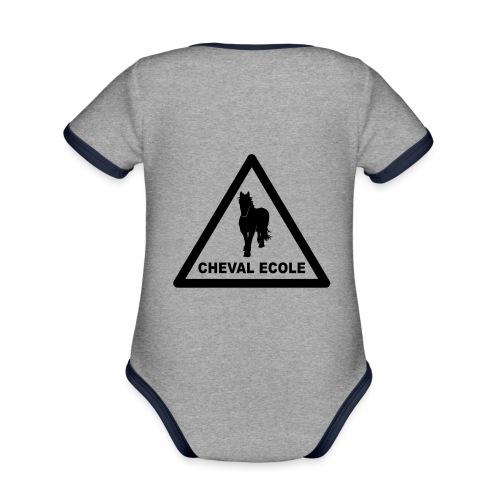chevalecoletshirt - Body Bébé bio contrasté manches courtes