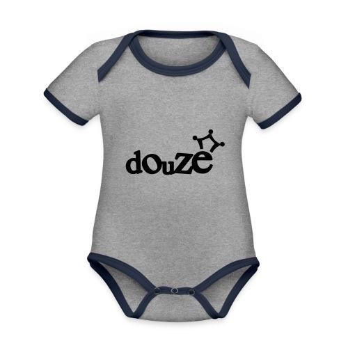 logo_douze - Body Bébé bio contrasté manches courtes