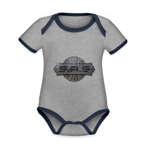 S.A.S. tshirt men - Baby contrasterend bio-rompertje met korte mouwen