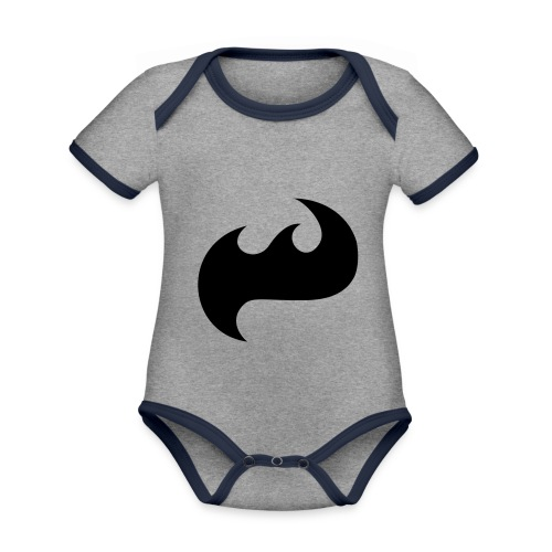 Highfish Logo - Baby Bio-Kurzarm-Kontrastbody