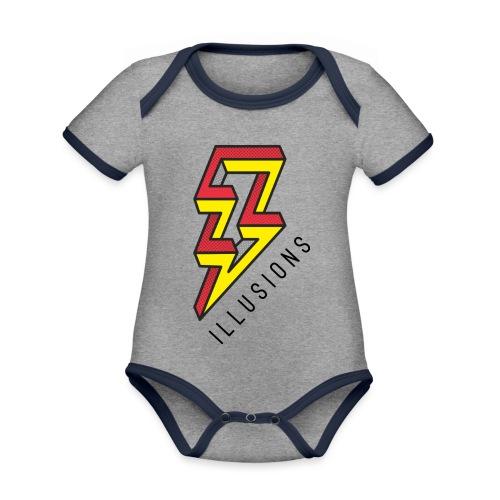 ♂ Lightning - Baby Bio-Kurzarm-Kontrastbody
