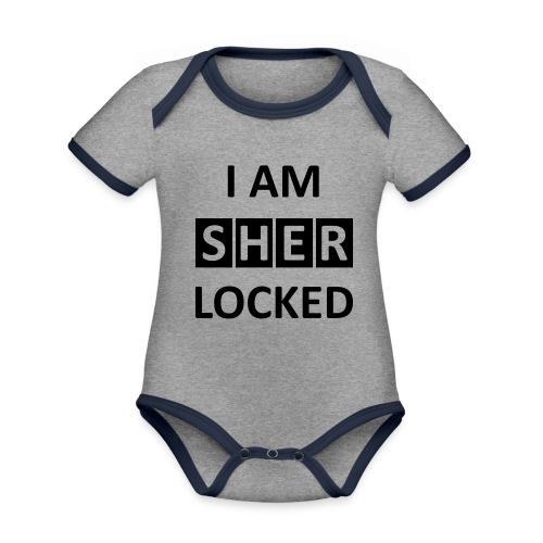 I AM SHERLOCKED - Baby Bio-Kurzarm-Kontrastbody