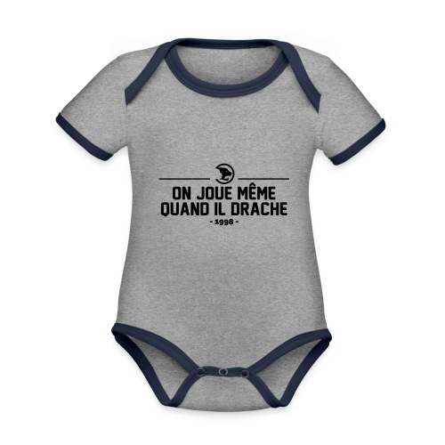 On Joue Même Quand Il Dr - Organic Baby Contrasting Bodysuit
