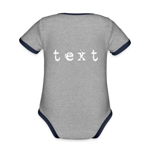 text - Baby Bio-Kurzarm-Kontrastbody
