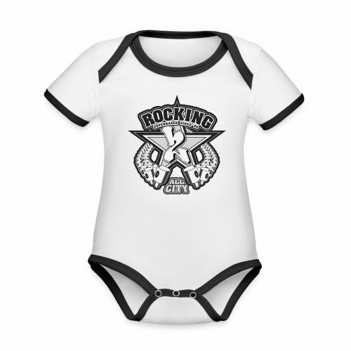 rocking copenhagen 2wear since 00 ver01 - Kortærmet økologisk babybody i kontrastfarver
