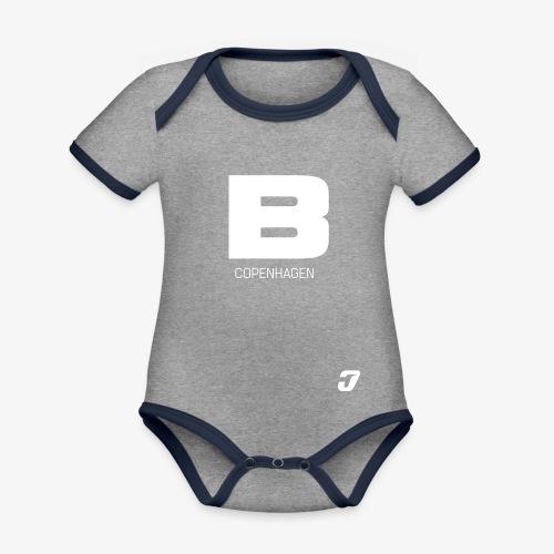 BADASSCOPENHAGEN - B_CPH - Kortærmet økologisk babybody i kontrastfarver