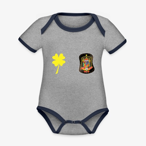 Trébol de la suerte CEsp - Body contraste para bebé de tejido orgánico