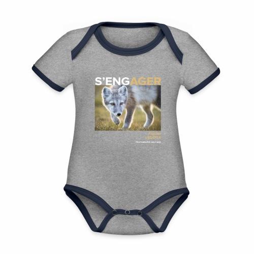 1 Achat = 1 Don à l'association ArcticArtsProject - Body Bébé bio contrasté manches courtes