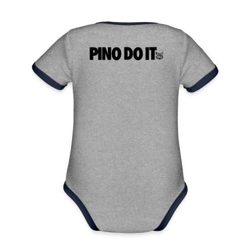 PINO DO IT - Body da neonato a manica corta, ecologico e in contrasto cromatico