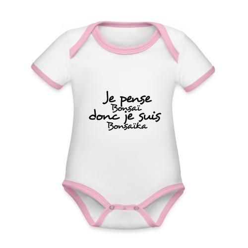 je_pense_donc_je_suis - Body Bébé bio contrasté manches courtes
