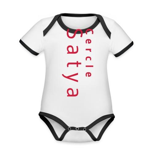 Cercle Satya - Body Bébé bio contrasté manches courtes