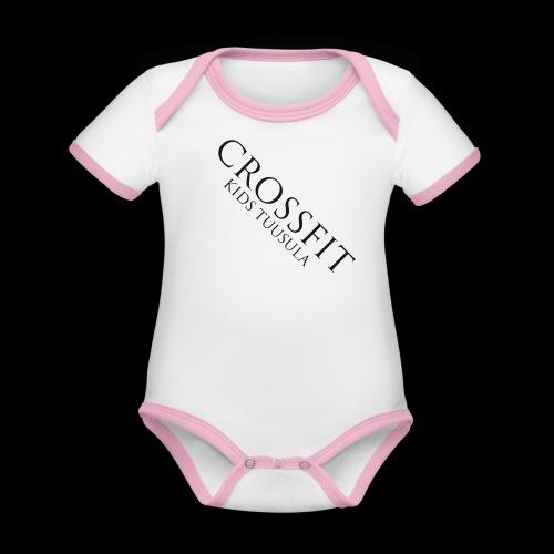 CF KIDS TUUSULA - Vauvan kontrastivärinen, lyhythihainen luomu-body