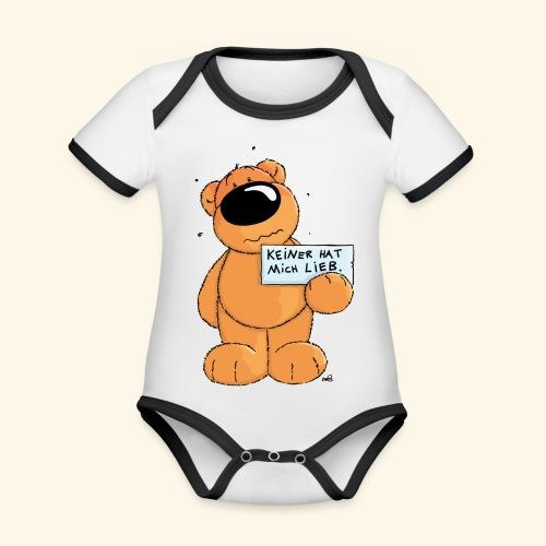 chris bears Keiner hat mich lieb - Baby Bio-Kurzarm-Kontrastbody