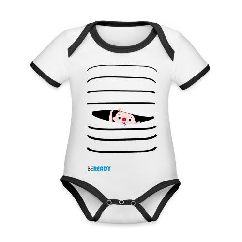 BEREADY_BOY.png - Baby contrasterend bio-rompertje met korte mouwen