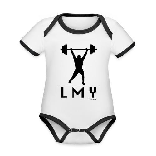 170106 LMY t shirt vorne png - Baby Bio-Kurzarm-Kontrastbody
