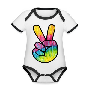 Peace Out Dude - Organic Baby Contrasting Bodysuit