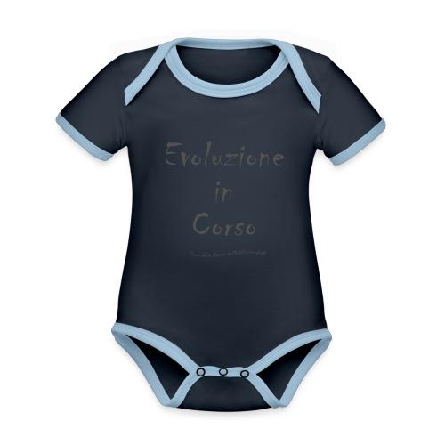 Evoluzione in corso - Body da neonato a manica corta, ecologico e in contrasto cromatico