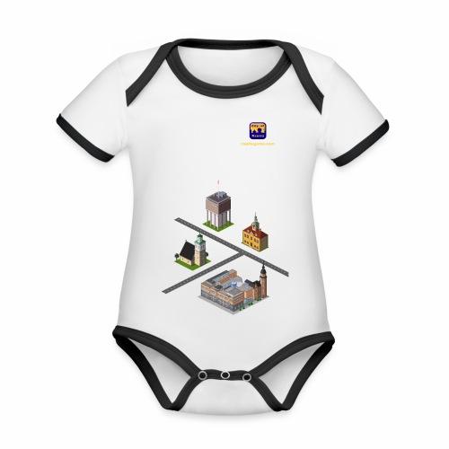 Raumagame mix - Vauvan kontrastivärinen, lyhythihainen luomu-body