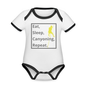 eat sleep canyoning repeat - Baby Bio-Kurzarm-Kontrastbody