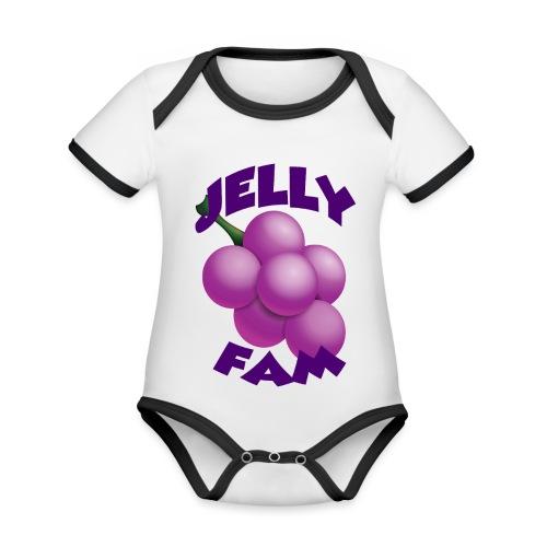 JellySquad - Kortærmet økologisk babybody i kontrastfarver