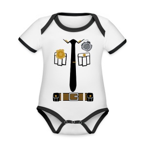 Police Patrol - Organic Baby Contrasting Bodysuit
